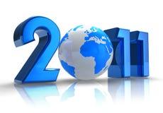 Konzept 2011 des neuen Jahres Stockfoto