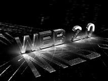 Konzept-Abbildung des Web-2.0 lizenzfreie abbildung