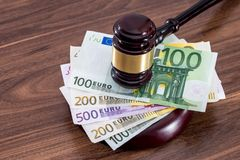 Konzept auf Korruption in der Gerechtigkeit lizenzfreie stockfotos