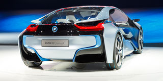 Konzept-Auto BMW-i8 lizenzfreies stockbild