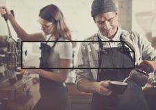 Konzept Barista Making Coffee Service stockbild