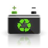 Konzept bereiten Automobilautobatteriedesign auf weißem Hintergrund auf lizenzfreie abbildung