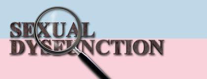 Konzept-Bild der sexuellen Funktionsstörung mit Lupe Lizenzfreies Stockfoto