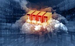 KONZEPT-Blauhintergrund der Wolke Datenverarbeitungs Lizenzfreie Stockfotografie