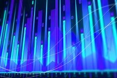 Konzept Blockchain, AI und der Analyse Stockfotografie