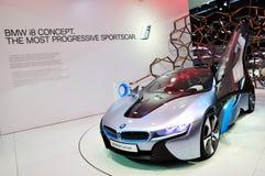 Konzept BMW-i8 auf IAA Frankfurt 2011 stockbilder