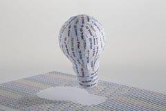 Konzept CYMK 3D Druck: Glühlampe Lizenzfreie Stockfotos