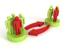 Konzept 3d der Interaktion der verschiedenen Gruppen von Personen vektor abbildung