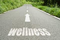 Konzept, das auf der Straße den Wellness veranschaulicht Stockbilder