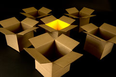 Konzept: Denken außerhalb des Kastens - seien Sie kreativ! Lizenzfreies Stockfoto