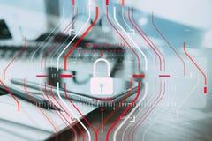 Konzept der allgemeine Daten-Schutz-Regelung (GDPR) und der Sicherheit C Lizenzfreies Stockfoto