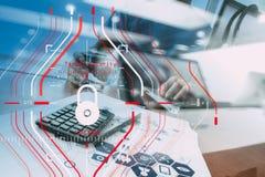 Konzept der allgemeine Daten-Schutz-Regelung (GDPR) und der Sicherheit C Stockfotos