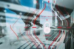Konzept der allgemeine Daten-Schutz-Regelung (GDPR) und der Sicherheit C Lizenzfreie Stockfotos