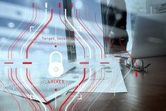Konzept der allgemeine Daten-Schutz-Regelung (GDPR) und der Sicherheit C Stockfotografie