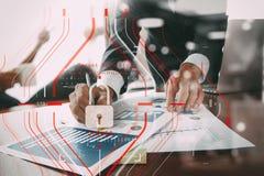 Konzept der allgemeine Daten-Schutz-Regelung (GDPR) und der Sicherheit C Stockbild