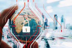 Konzept der allgemeine Daten-Schutz-Regelung (GDPR) und der Sicherheit C Lizenzfreie Stockbilder
