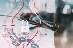 Konzept der allgemeine Daten-Schutz-Regelung (GDPR) und der Sicherheit C Stockbilder