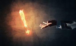 Konzept der Aufmerksamkeit oder der Interpunktion mit brennendem Ausruf Mrz Lizenzfreies Stockbild