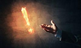Konzept der Aufmerksamkeit oder der Interpunktion mit brennendem Ausruf Mrz Lizenzfreie Stockbilder