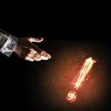 Konzept der Aufmerksamkeit oder der Interpunktion mit brennendem Ausruf Mrz Stockfotos
