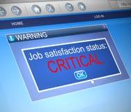 Konzept der beruflichen Zufriedenheit Lizenzfreie Stockbilder