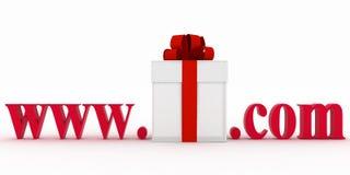 Konzept der Besuchse-business-Website Stockbild