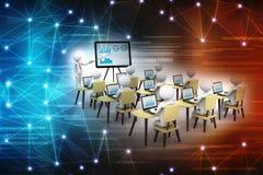 Konzept der Bildung und des Lernens, Darstellung Lokalisierter weißer Hintergrund, 3d übertragen stock abbildung