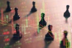 Konzept der Börsestrategie Stockbild