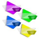 Konzept der bunten Fahnen für unterschiedliche Geschäftsauslegung Auch im corel abgehobenen Betrag Lizenzfreies Stockfoto