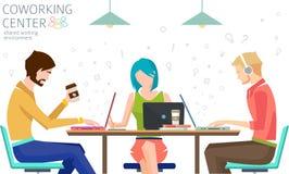 Konzept der coworking Mitte Stockbild