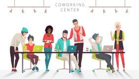 Konzept der coworking Mitte vektor abbildung