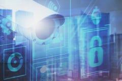 Konzept der digitalen Überwachung und der Überwachung stock abbildung