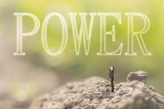 Konzept der Energie, Stärke, Kraft Stockfotografie
