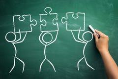 Konzept der erfolgreichen Teamarbeit lizenzfreie stockbilder