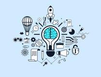 Konzept der Erfolgsgeschäftsidee Stockbilder