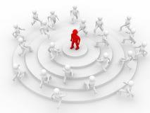 Konzept der Führung. vektor abbildung