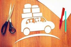 Konzept der Familienreise durch das Auto Lizenzfreie Stockbilder