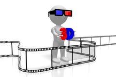 Konzept der Filme 3D Lizenzfreie Stockbilder