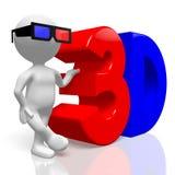 Konzept der Filme 3D Lizenzfreies Stockfoto