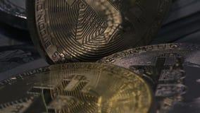 Konzept der Finanzierung und des elektronischen Geldes stock video footage