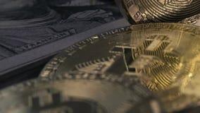 Konzept der Finanzierung und der Schlüsselwährung stock video