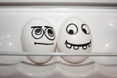 Konzept der Freundschaft Zwei Eier Lustige Eier Stockfoto