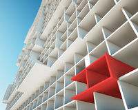 Konzept der Gebäudestrukturen Lizenzfreies Stockbild