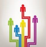 Konzept der Generation oder Führung mit Symbolen von peopl lizenzfreie abbildung