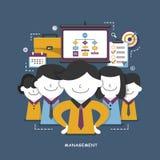 Konzept der Geschäftsführung Stockbilder