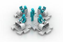 Konzept der Geschäftskommunikation Lizenzfreie Stockbilder