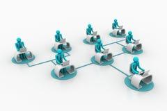 Konzept der Geschäftskommunikation Stockbilder