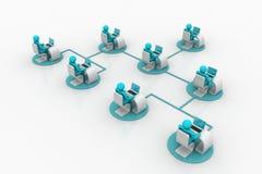 Konzept der Geschäftskommunikation Lizenzfreies Stockfoto