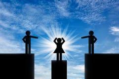 Konzept der Geschlechtsungleichheit lizenzfreie abbildung