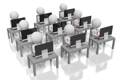 Konzept der Gesellschaft 3D/des offenen Raumes Lizenzfreie Stockfotografie